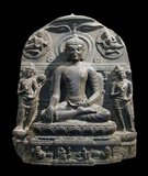 The Pāla Empire, one of the major middle kingdoms of India, existed from 750–1174 CE. It was ruled by a Buddhist dynasty from Bengal in the eastern region of the Indian subcontinent, all the rulers bearing names ending with the suffix Pala (Modern Bengali: পাল pāl), which means protector. The Palas were often described by opponents as the Lords of Gauda. The Palas were followers of the Mahayana and Tantric schools of Buddhism. Gopala was the first ruler from the dynasty. He came to power in 750 in Gaur by a democratic election. This event is recognized as one of the first democratic elections in South Asia. He reigned from 750–770 and consolidated his position by extending his control over all of Bengal. The Buddhist dynasty lasted for four centuries (750–1120 CE) and ushered in a period of stability and prosperity in Bengal. They created many temples and works of art as well as supporting the Universities of Nalanda and Vikramashila. Somapura Mahavihara built by Dharmapala is the greatest Buddhist Vihara in the Indian Subcontinent.<br/><br/>  The empire reached its peak under Dharmapala and Devapala. Dharmapala extended the empire into the northern parts of the Indian Subcontinent. This triggered once again the power struggle for the control of the subcontinent. Devapala, successor of Dharmapala, expanded the empire to cover much of South Asia and beyond. His empire stretched from Assam and Utkala in the east, Kamboja (modern day Afghanistan) in the north-west and Deccan in the south. According to a Pala copperplate inscription Devapala exterminated the Utkalas, conquered the Pragjyotisha (Assam), shattered the pride of the Huna, and humbled the lords of Pratiharas, Gurjara and the Dravidas.<br/><br/>  The death of Devapala ended the period of ascendancy of the Pala Empire and several independent dynasties and kingdoms emerged during this time. However, Mahipala I rejuvenated the reign of the Palas. He recovered control over all of Bengal and expanded the empire. H
